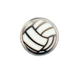 Volleyball - Enamel Charm